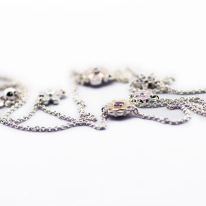 Authentic 925 Sterling Silver Poetic Blooms Necklace