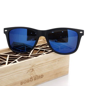 Summer Style Vintage Sunglasses with Wooden Box - J20Style - 5