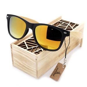 Summer Style Vintage Sunglasses with Wooden Box - J20Style - 2
