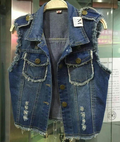 High Quality Denim Vest Outerwear - J20Style