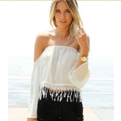 Summer Strapless Full Sleeve Blouse - J20Style - 1