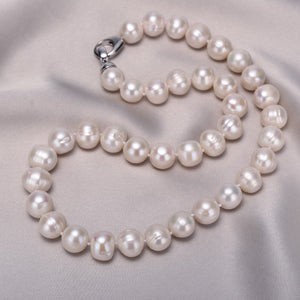 11-12mm Freshwater Classic White Pearl Choker Necklace