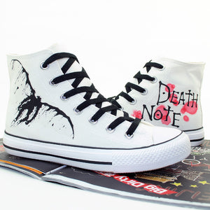 Death Note Cosplay Same Canvas Shoes