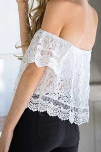 Summer Off Shoulder Lace Chiffon Shirt - J20Style - 1