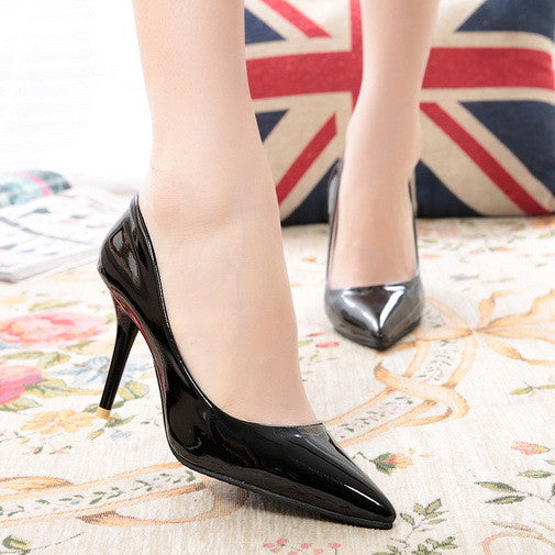 Slip Pointed High Heel Shoes - J20Style - 3