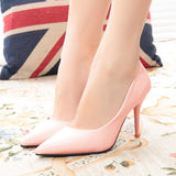 Slip Pointed High Heel Shoes - J20Style - 7