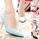 Slip Pointed High Heel Shoes - J20Style - 1