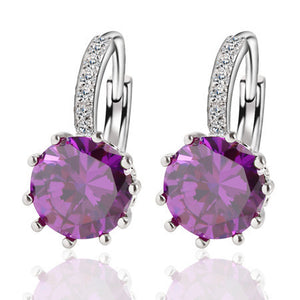 Alloy Silver Plated Crystal Earring - J20Style - 4