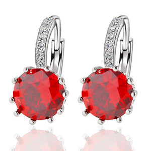 Alloy Silver Plated Crystal Earring - J20Style - 6