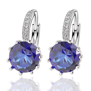 Alloy Silver Plated Crystal Earring - J20Style - 8