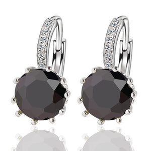 Alloy Silver Plated Crystal Earring - J20Style - 3