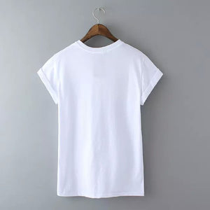 """HI"" Stylish Letter Print T shirt"