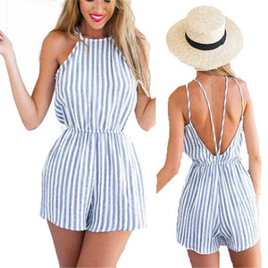 Summer Halter Backless Jumpsuit