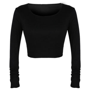 Summer Cropped Long Sleeve Clubwear - J20Style - 3