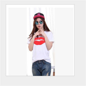 Summer Lips Printed Short Sleeve T-Shirt - J20Style - 5