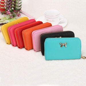Candy Color Bowknot Short Wallet - J20Style - 1