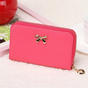 Candy Color Bowknot Short Wallet - J20Style - 2