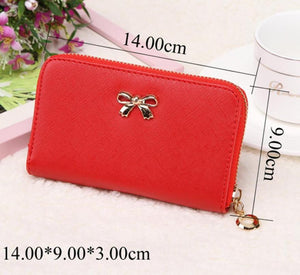 Candy Color Bowknot Short Wallet - J20Style - 5