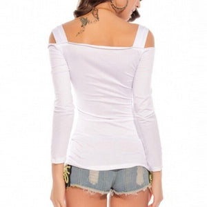 Summer Style Off-Shoulder Slash Neck T-Shirt - J20Style - 5