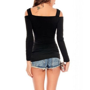 Summer Style Off-Shoulder Slash Neck T-Shirt - J20Style - 3
