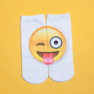 Emoji Pattern 3D Fashion Printing Socks
