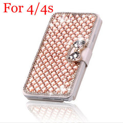 Artificial Diamond Leather Flip Case - J20Style - 2