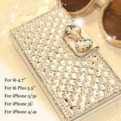 Artificial Diamond Leather Flip Case - J20Style - 1