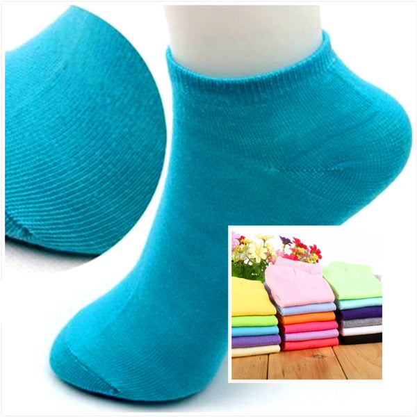 Cotton Candy Color Fashion Ankle Boat Short Socks