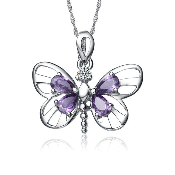 High Quality Crystal Butterfly Necklace