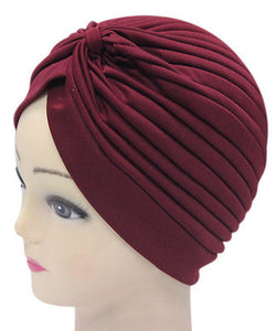 Solid Color Indian Turban Hat - J20Style - 21