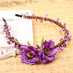 Camellia Flower Headband for Girls - J20Style - 1