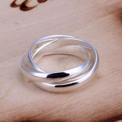 Beautiful Fashion Three Circles Silver Ring