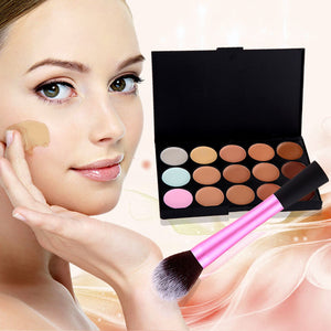 15 Color Concealer and Cosmetic Brush - J20Style - 1
