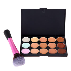 15 Color Concealer and Cosmetic Brush - J20Style - 2