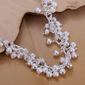 925 Jewelry Silver Plated Chain Bracelet