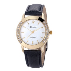 Female Clock Geneva Wrist Watch