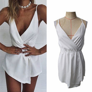 Sleeveless V-Neck Chiffon Playsuit - J20Style - 5