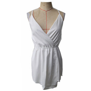 Sleeveless V-Neck Chiffon Playsuit - J20Style - 2