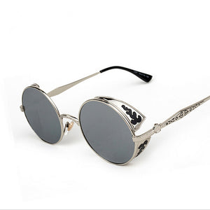 High Quality Steampunk Round Sunglasses - J20Style - 3