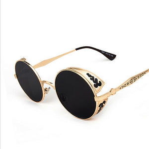 High Quality Steampunk Round Sunglasses - J20Style - 2