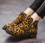 Autumn Leopard Zipper Boot - J20Style - 3