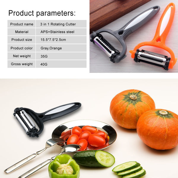 Multi-Functional Plastic Vegetable Peeler - J20Style