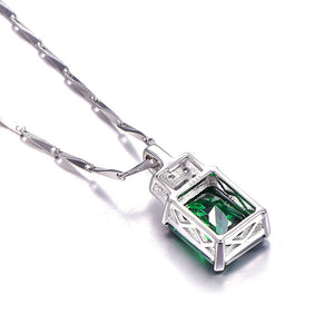High Quality Emerald 6.95ct Pendant Necklace