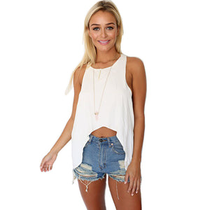 Summer Lady Vest Backless Shirt - J20Style - 1