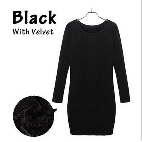 Long Sleeve And Soft Nap Casual Dress - J20Style - 2