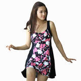 Hot  Extra Large One Piece Floral Swimwear