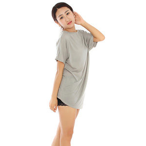 Summer Slash Neck Half-Sleeved T-Shirt