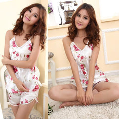 Flower Sleepwear Brace Shirts & Shorts - J20Style - 2