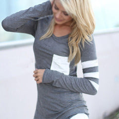 Casual Long Sleeve Pocket Pullover - J20Style - 2