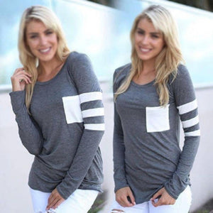 Casual Long Sleeve Pocket Pullover - J20Style - 5